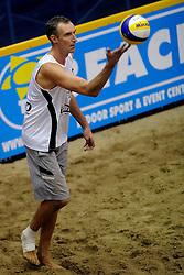 07-01-2011 VOLLEYBAL: CEV SATELLITE INDOOR BEACHVOLLEYBALL: AALSMEER<br /> The first CEV Indoor beachvolleyball tounament / Richard Schuil <br /> ©2011-WWW.FOTOHOOGENDOORN.NL