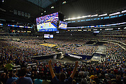 A general view of the NCAA South Regionals between the University of Michigan Wolverines and the University of Kansas Jayhawks at Cowboys Stadium in Arlington on Friday, March 29, 2013. (Cooper Neill/The Dallas Morning News)