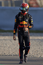 February 19, 2019 - Barcelona, Catalonia, Spain - Pierre Gasly of France driving the (10) Aston Martin Red Bull Racing RB15 walks from his car after crashing during day two of F1 Winter Testing at Circuit de Catalunya on February 19, 2019 in Montmelo, Spain. (Credit Image: © Jose Breton/NurPhoto via ZUMA Press)
