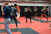 Training at Jackson Wink MMA in Albuquerque, New Mexico on June 10, 2016.