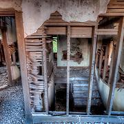 Interior of a farmhouse near Stafford Kansas left vacant.