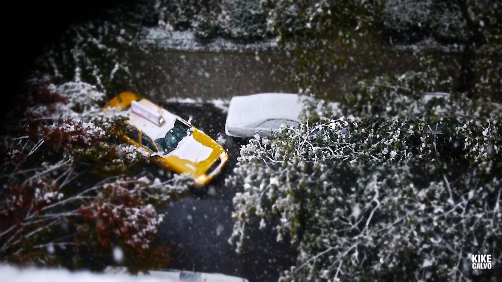 Snow blizzard in New York City in late October