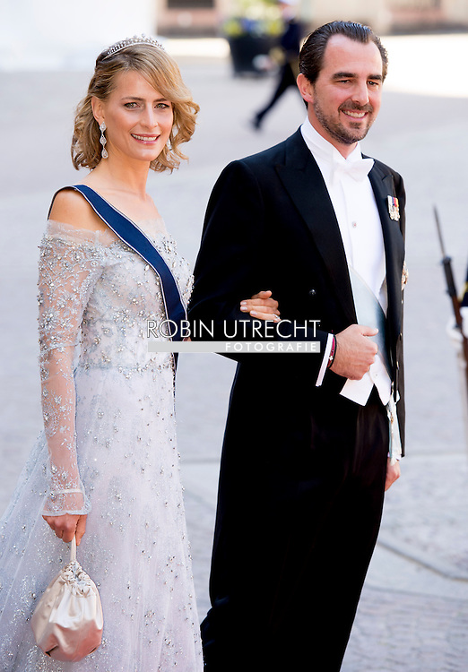13-6-2015 STOCKHOLM   Prince Nikolaos and Princess Tatiana from Greece arrival of  for  .The wedding of Prince Carl Philip and Sofia Hellqvist  at the  Royal palace in Stockholm .COPYRIGHT ROBIN UTRECHT