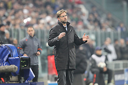 24.02.2015, Veltins Arena, Turin, ITA, UEFA CL, Juventus Turin vs Borussia Dortmund, Achtelfinale, Hinspiel, im Bild Chef-Trainer Juergen Klopp (Borussia Dortmund) // during the UEFA Champions League Round of 16, 1st Leg match between between Juventus Turin and Borussia Dortmund at the Veltins Arena in Turin, Italy on 2015/02/24. EXPA Pictures © 2015, PhotoCredit: EXPA/ Eibner-Pressefoto/ Kolbert<br /> <br /> *****ATTENTION - OUT of GER*****