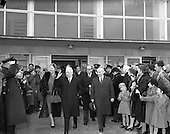 1959 - President Sean T. O'Ceallaigh at Dublin Airport on arrival from his State Visit to the U.S.A.