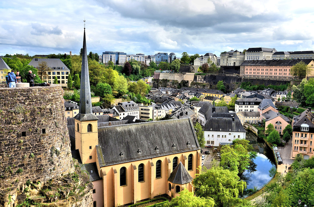 Ville Basse and Ville Haute in Luxembourg City, Luxembourg<br />