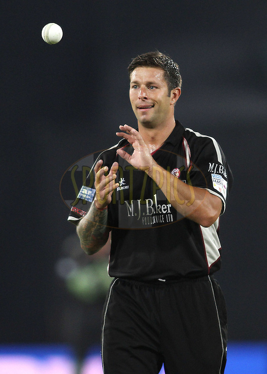 Peter Trego of Somerset during the CLT20 - Q4 match between Somerest and Auckland Aces held at the Rajiv Gandhi International Stadium, Hyderabad on the 20th September 2011..Photo by Shaun Roy/BCCI/SPORTZPICS