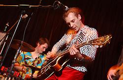 BRUSSELS, BELGIUM - JAN-20-2005 - Busty Duck Duck live at the Bank Irish Pub. (PHOTO © JOCK FISTICK)