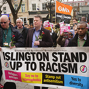 Islington Stand Up to Racism and Muslim community stand in solidarity with the Muslim community of the outrageous 'Punish a Muslim Day' letter recently sent to homes across the country is yet another example of anti-Muslim hate crime which has doubled over the last year on the 3rd March 2018 at Islington Town Hall, London, UK.