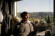 Bagnoli, Italia - 4 novembre 2011. L'ingegner Giovanni Capasso ritratto nel suo studio all'interno degli uffici della società Bagnoli Futura. L'ingegner Capasso, è stato l'ultimo ad essere assunto nel 1981 dall'ILVA di Bagnoli. Oggi  è il responsabile della comunicazione della Bagnoli Futura oltre ad essere il custode della storia dello stabilimento..Ph. Roberto Salomone Ag. Controluce.ITALY - Engeneer Giovanni Capasso in his office. Mr. Capasso was the last engeer to be hired by ILVA industrial plant in 1981 and now is responsable for the comunication of Bagnoli Futura company.