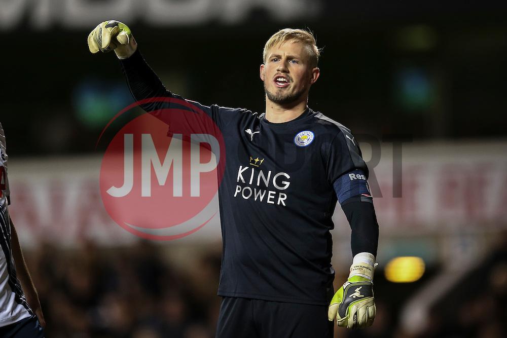 Kasper Schmeichel of Leicester City - Mandatory byline: Jason Brown/JMP - 07966386802 - 10/01/2016 - FOOTBALL - White Hart Lane - London, England - Tottenham v Leicester City - The Emirates FA Cup