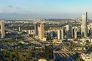 Aerial view of Tel Aviv, Israel looking north