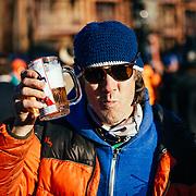 Judge John Verdon (VC ownder/bartender) quaffing some beer of his during the 2015 Gelande Quaff.