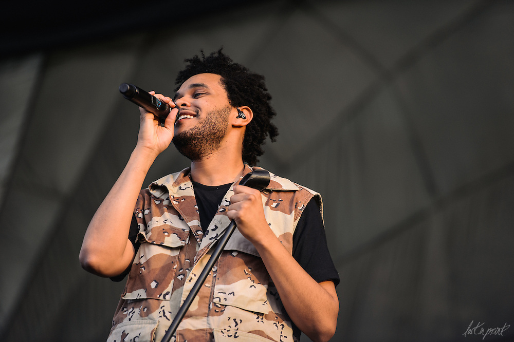 The Weeknd performs at Lollapalooza in Chicago, IL on August 4, 2012