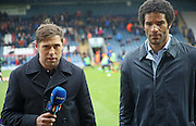 Grant Holt, David James, BT Sport during the The FA Cup match between Rochdale and Bury at Spotland, Rochdale, England on 6 December 2015. Photo by Daniel Youngs.
