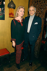 SIRDAR ALY AZIZ and ISABELLA CLEMENTE at a party in honour of Ivana Trump hosted by Mohieb Dahabieh at Pasha, Gloucester Road, London on 25th January 2008.<br />