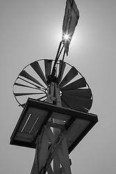 Antique windmill with platform