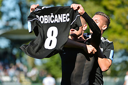 Luka Bobicanec of NS Mura celebrates during football match between NS Mura and NK Maribor in 10th Round of Prva liga Telekom Slovenije 2018/19, on September 30, 2018 in Mestni stadion Fazanerija, Murska Sobota, Slovenia. Photo by Mario Horvat / Sportida