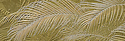 Palm fronds abstract design relief panorama Photo art images with 3D, bas relief effect and simulated metallic photos