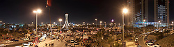 © under license to London News Pictures. 20/02/2011. A panoramic view of Pearl Roundabout where tens of thousands of people are protesting for government reforms. Photo credit should read Michael Graae/London News Pictures