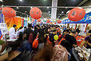 People crowded at the 37th anniversary Asian American Expo., at Pomona Fairflex on Sunday January 14, 2018 in Los Angeles, the United States. Asian American Expo  featuring arts, performances, vendors galore, entertainment, and traditional Chinese New Year ceremonies with dignitaries and the Dragon Dance .(Xinhua/Zhao Hanrong)<br /> <br /> (Photo by Ringo Chiu)<br /> <br /> Usage Notes: This content is intended for editorial use only. For other uses, additional clearances may be required.