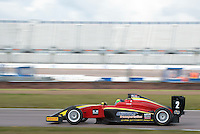 #2 Quinlan LALL (USA)  Chris Dittmann Racing  Tatuus-Cosworth  BRDC British F3 Championship at Rockingham, Corby, Northamptonshire, United Kingdom. April 30 2016. World Copyright Peter Taylor/PSP.
