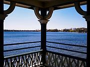 04 MAY 2018 - ORONO, MINNESOTA: Lake Minnetonka as seen from Noerenberg Gardens Memorial Park in Orono, MN. PHOTO BY JACK KURTZ