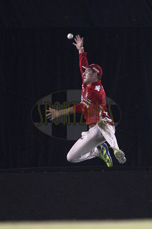 David MILLER of the Kings XI Punjab  attempts the catch during match 5 of the Oppo Champions League Twenty20 between the Kings XI Punjab and the Barbados Tridents held at the Punjab Cricket Association Stadium, Mohali, India on the 20th September 2014<br /> <br /> Photo by:  Ron Gaunt / Sportzpics/ CLT20<br /> <br /> <br /> Image use is subject to the terms and conditions as laid out by the BCCI/ CLT20.  The terms and conditions can be downloaded here:<br /> <br /> http://sportzpics.photoshelter.com/gallery/CLT20-Image-Terms-and-Conditions-2014/G0000IfNJn535VPU/C0000QhhKadWcjYs