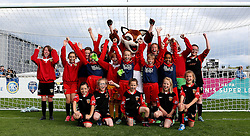 Girls from Dursley Town pose for a picture at during half time in the game between Bristol City Women and Oxford United Women  - Mandatory by-line: Robbie Stephenson/JMP - 25/06/2016 - FOOTBALL - Stoke Gifford Stadium - Bristol, England - Bristol City Women v Oxford United Women - FA Women's Super League 2