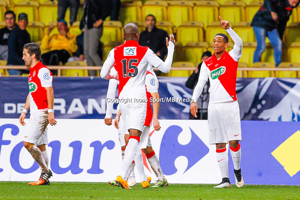 Joie Anthony Martial  - 21.01.2015 - Monaco / Evian Thonon   - Coupe de France 2014/2015<br /> Photo : Sebastien Nogier / Icon Sport