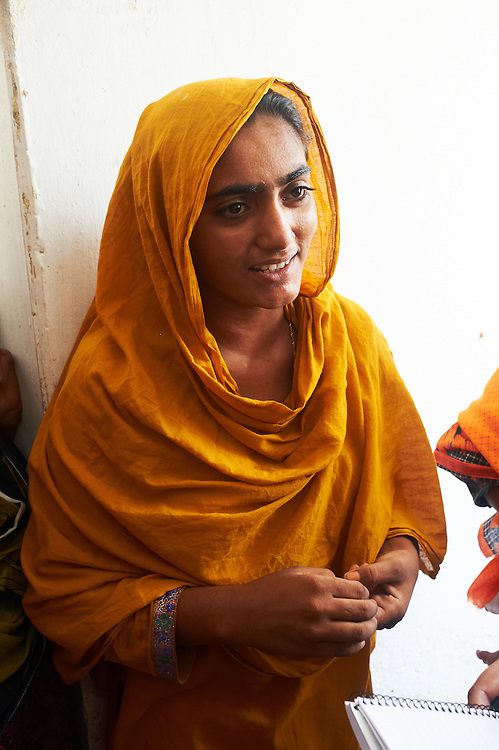 Shamila Bibi, 22 visits the Mitho Barbar, Dadu, Sindh, Pakistan on July 4, 2011.