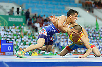 Ashgabat 2017 - 5th Asian Indoor & MartialArts Games 25-09-2017. Wrestling Mens 61kg - Timur Aitkulov (KAZ) v Sadeghikoukand (IRI)