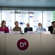 04 June 2015 - Belgium - Brussels - European Development Days - EDD - Energy - Sharing the load - Public and private sector roles in addressing poor people's energy needs - Lucy Symons , Co-founder, Village Infrastructure - Sam Duby , <br /> Founder and CTO, SteamaCo - Klaus Rudischhauser , <br /> Deputy Director General at DG for International Cooperation and Development - Jorund Buen ,<br /> Co-Founder and Partner, Differ Group - Fabby Tumiwa ,<br /> Executive Director of Institute for Essential Services Reform (IESR)© European Union