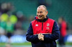 England Rugby Head Coach Eddie Jones is all smiles - Mandatory byline: Patrick Khachfe/JMP - 07966 386802 - 27/02/2016 - RUGBY UNION - Twickenham Stadium - London, England - England v Ireland - RBS Six Nations.