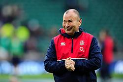 England Rugby Head Coach Eddie Jones is all smiles - Mandatory byline: Patrick Khachfe/JMP - 07966 386802 - 27/02/2016 - RUGBY UNION - Twickenham Stadium - London, England - England v Ireland - RBS Six Nations.