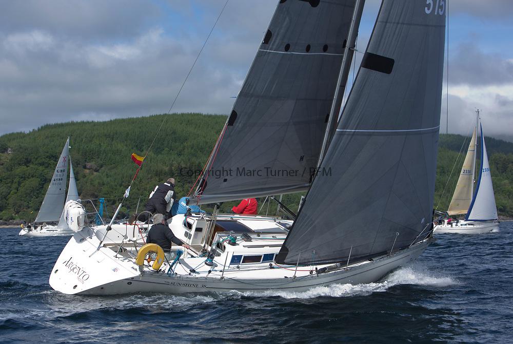 Silvers Marine Scottish Series 2017<br /> Tarbert Loch Fyne - Sailing Day 3<br /> <br /> GBR5151C, Argento, Ken Andrew, CCC, Jeanneau Sunshine 38