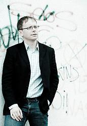 Portrait of Marjan Pogacnik, Slovenian journalist and translator. (Photo by Vid Ponikvar / Sportal Images)