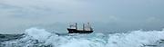 Small coastal cargo ship in the mediteranean.