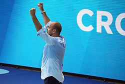 July 24, 2018 - Barcelona, Spain - the coach Ivica Tucak (Croatia) during the match between Croacia and Montenegro, corresponding to the women group stage of the European Water Polo Championship, on 19th July, 2018, in Barcelona, Spain. (Credit Image: © Joan Valls/NurPhoto via ZUMA Press)