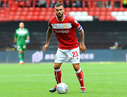Marlon Pack of Bristol City in action - Mandatory by-line: Nizaam Jones/JMP- 18/08/2018 - FOOTBALL - Ashton Gate Stadium - Bristol, England - Bristol City v Middlesbrough - Sky Bet Championship