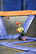 Sam Jones of Harleysville, Pennsylvania moves out of the way of numerous balls during the Ultimate Dodgeball championship Monday June 6, 2016 in Levittown, Pennsylvania. The winner moves on to compete in Las Vegas for the national title. (Photo by William Thomas Cain)