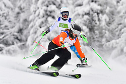 PERRINE Melissa Guide: KELLY Bobbi, B2, AUS, Women's Slalom at the WPAS_2019 Alpine Skiing World Championships, Kranjska Gora, Slovenia