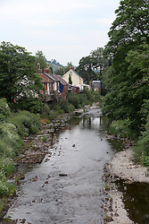 UK ENGLAND WALES LLANFAIR CAREINION 1JUL15 - The river Banwy flows through the Welsh town of Llanfair Careinion in the river Severn catchment area.<br /> <br /> jre/Photo by Jiri Rezac / WWF UK<br /> <br /> © Jiri Rezac 2015