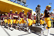 ASU SunDevil football team takes the field in Sun Devil Stadium