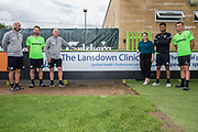 Team sponsors Landsdown Clinic during the 2018/19 official team photocall for Forest Green Rovers at the New Lawn, Forest Green, United Kingdom on 30 July 2018. Picture by Shane Healey.