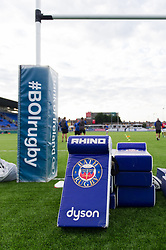 A general view of Bath Rugby branded tackle shields - Mandatory byline: Patrick Khachfe/JMP - 07966 386802 - 25/08/2017 - RUGBY UNION - Donnybrook Stadium - Dublin, Republic of Ireland - Leinster Rugby v Bath Rugby - Pre-season Friendly