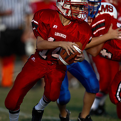 August 31, 2010: Loranger Middle School Wolves against the Sumner Middle School in a week one football match up in Loranger, La.