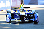 Renault E.Dams driver, Nico Prost was alone for most of the race during Round 9 of Formula E, Battersea Park, London, United Kingdom on 2 July 2016. Photo by Matthew Redman.
