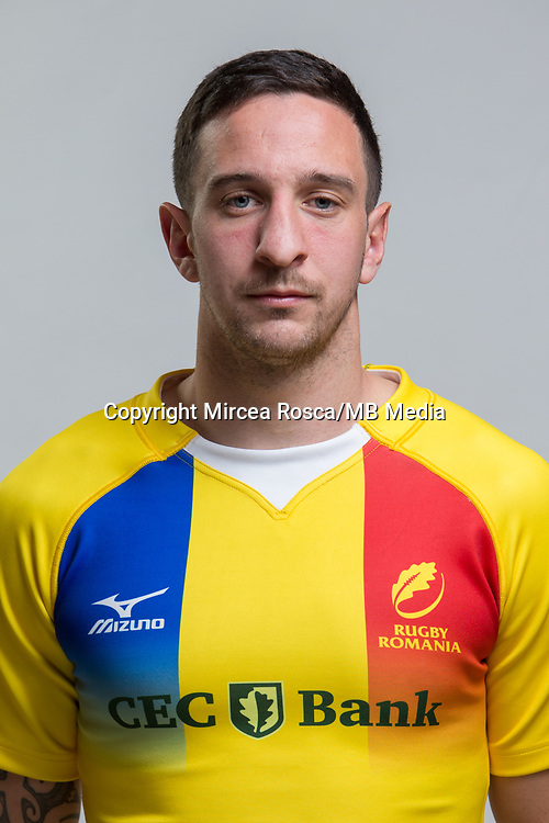CLUJ-NAPOCA, ROMANIA, FEBRUARY 27: Romania's national rugby player Stephen Shannen pose for a headshot, on February 27, 2018 in Cluj-Napoca, Romania. (Photo by Mircea Rosca/Getty Images)