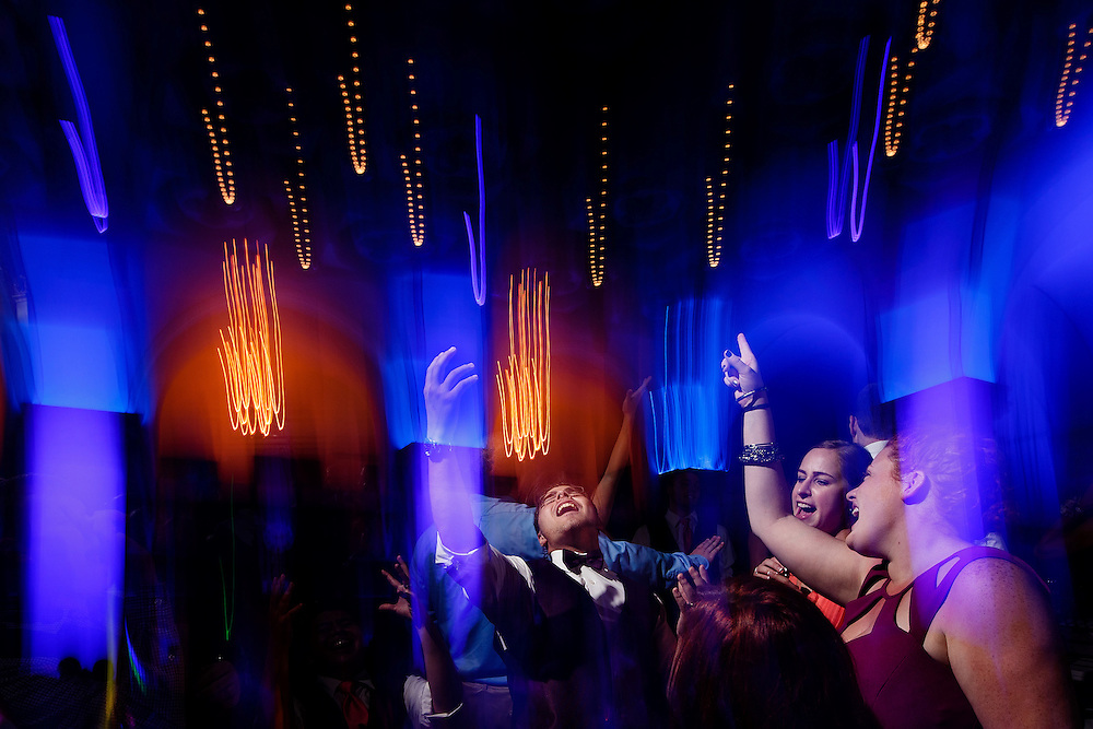 Guests dance during a wedding at City Flats Hotel in Grand Rapids, Saturday, Aug. 1, 2015. Photo by Justin Edmonds